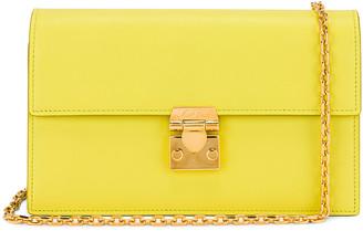 Mark Cross Jacqueline Chain Bag in Citron | FWRD