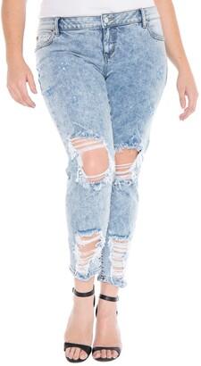 SLINK Jeans Destroyed Boyfriend Jeans