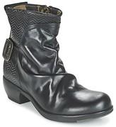 Fly London MEL women's Low Ankle Boots in Black