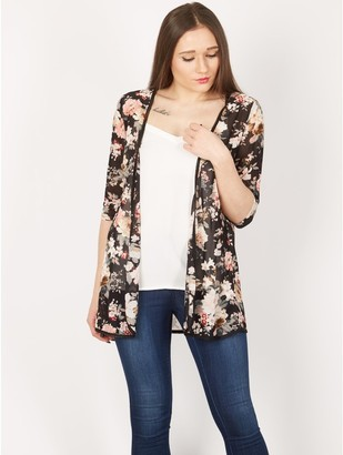 M&Co Izabel floral piped cardigan