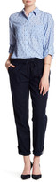 Joe Fresh Drawstring Linen Blend Roll Up Pant