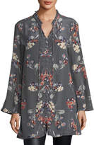 Tolani Whitney Long Floral-Print Tunic, Plus Size