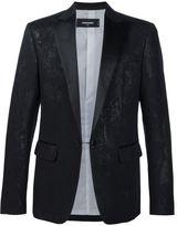 DSQUARED2 jacquard blazer - men - Polyamide/Polyester/Wool - 56