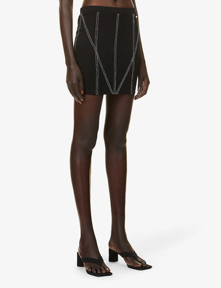 Odolls Collection High-waist fitted stretch-woven mini skirt