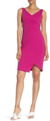 Bebe Twisted Bodice Scuba Dress