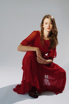 Urban Outfitters Vienna Chiffon Tiered Frock Dress