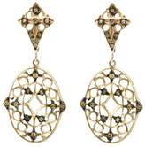 Loree Rodkin lace diamond drop earrings