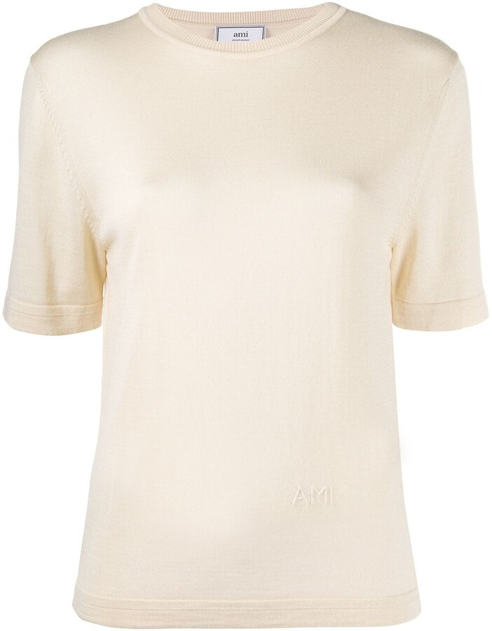 AMI Paris knitted short-sleeve T-shirt
