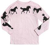 Molo Horses Print Slub Cotton Jersey T-Shirt