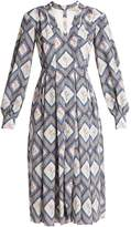 Emilia Wickstead Sidney tapestry-print pleated crepe midi dress