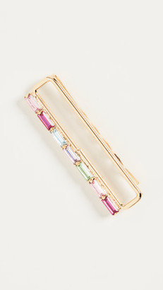LELET NY Link Chain Pin with Baguette Crystals