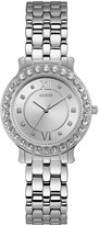 GUESS Blush Silver and Stone Set Dial Silver Stainless Steel Ladies Watch