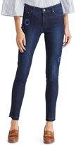 Lauren Ralph Lauren Floral Embroidered Premier Skinny Crop Jean