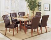 Acme 17046 Set of 2 Bologna Bycast Side Chair, Espresso Finish