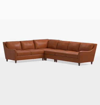 Rejuvenation Vailer Leather 4-Piece Sectional Sofa