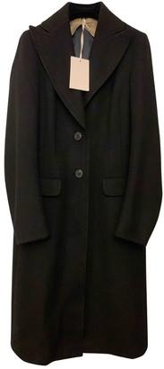 Mantu Black Wool Coat for Women