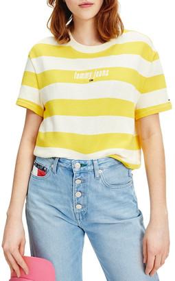 Tommy Jeans Stripe Logo Tee