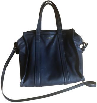 Balenciaga Bazar Bag Navy Leather Handbags
