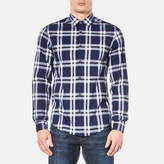 BOSS GREEN Men's Bopaz Shirt Navy