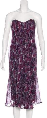 Alexander McQueen Silk Midi Dress