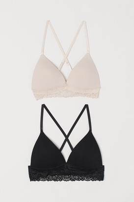 H&M 2-Pack Non-Wired Push-Up Bras