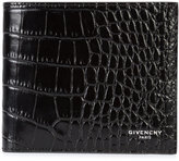 Givenchy logo embossed billfold wallet