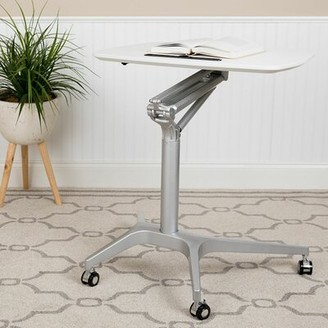 Symple Stuff Hartline Height Adjustable Standing Desk Color: White
