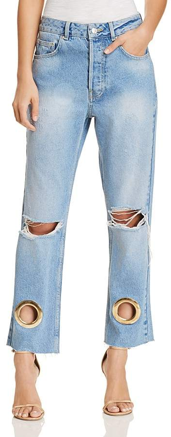 Anine Bing Giovanna Straight Jeans in Blue