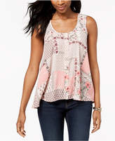 Style&Co. Style & Co Sleeveless Printed High-Low Top, Created for Macy's