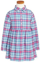 Vineyard Vines Girl's Piper Plaid Flannel Shirtdress