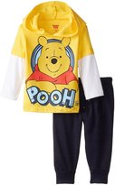 Disney Baby Boys' Winnie The Pooh Jogger Fleece Pant Set with Jersey Hang Down Hoodie