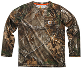 Carhartt Brown Force Realtree Xtra® Camo Long-Sleeve Raglan Tee - Boys