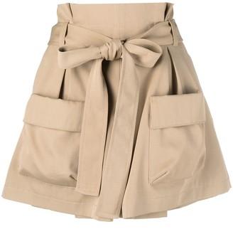 RED Valentino Waist-Tie Cargo Shorts