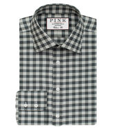 Thomas Pink Plato Check Classic Fit Button Cuff Shirt