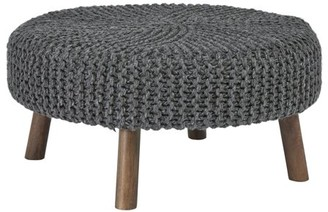 Signature Design by Ashley Jassmyn Charcoal Casual Oversized Accent Ottoman