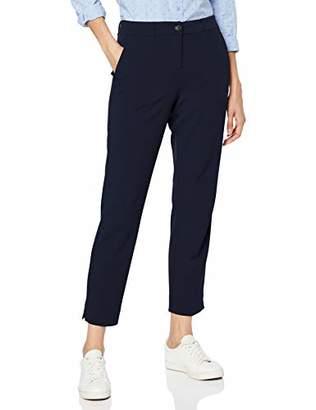 Tom Tailor Casual Women's Mia Slim Trouser, (Sky Captain Blue 10668), 14 (Size: )