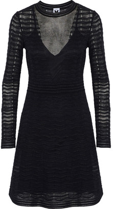 M Missoni Burnout-effect Metallic Crochet-knit Mini Dress