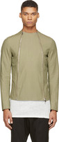 Thamanyah Army Asymmetrical Zip Jacket