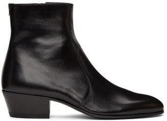 Saint Laurent Black Cole Boots