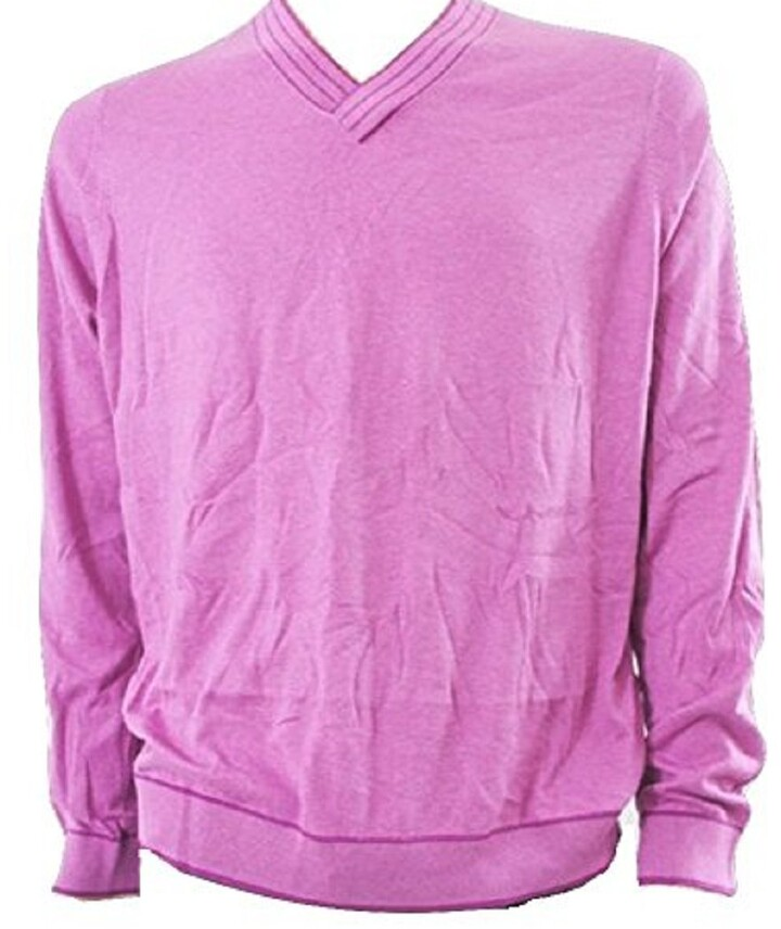 Thumbnail for your product : Ted Baker Men's Yellow V Neck Organic Cotton SLUMDOG Sweater - Size Medium