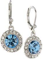 Carolee Silver-Tone Blue & Clear Crystal Drop Earrings