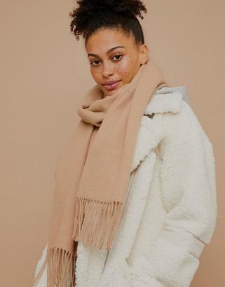 Topshop super-soft scarf in camel