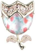 Alexis Bittar Abstract Tulip Glitter Pin