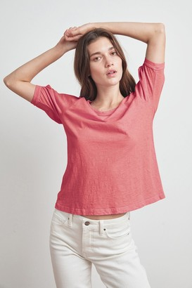 Velvet by Graham & Spencer Anabelle Cotton Slub Puff Sleeve Tee