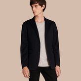 Burberry Slim Fit Tailored Cotton Jersey Jacket