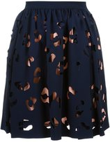MSGM cut-out overlay skirt