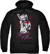 Marvel Suicide Squad Harely Quinn Swinging Baseball Bat Movie Adult Pull-Over Hoodie