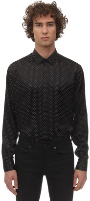 Saint Laurent S/s Studded Silk Shirt
