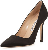 Manolo Blahnik BB Satin 105mm Pump, Black