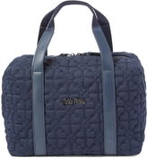Folli Follie Blue Heart Quilted Tote